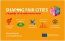 Progetto Shaping fair cities, sospensione dei termini per attività degli enti locali
