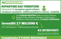 Covid, montagna e Basso Ferrarese: investimenti da 27 milioni di euro